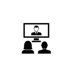 Videoconference online presentation flat vector