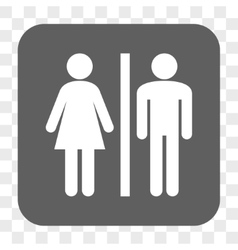 WC Persons Rounded Square Button vector image