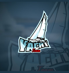yacht team logo template vector image