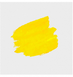 yellow blob isolated transparent background vector image