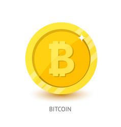 bitcoin icon modern flat design vector image