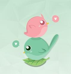 couples bird mini vector image vector image
