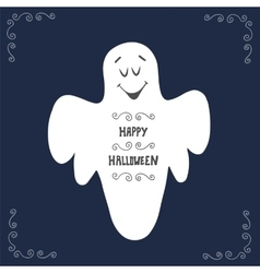Halloween ghost poster design vector image vector image