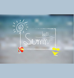 hello summer background design logo on vector image