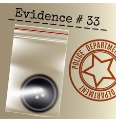 Police case evidence vector image