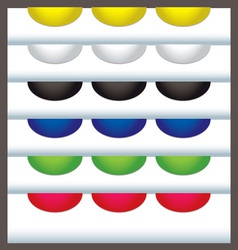 colourful web tabs vector image
