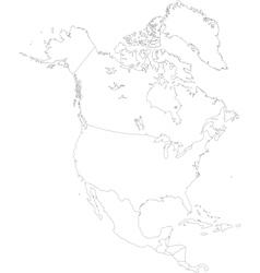 Contour North America vector image