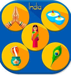Icons of India vector image