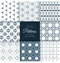 Set of amazing pattern design background vector