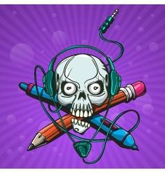 Skull Artist vector image vector image