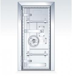 bank vault vector image vector image