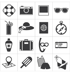 travel and summer icon vector image vector image