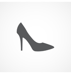 Woman shoe icon vector image vector image