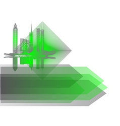background with abstract city vector image vector image