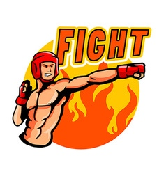 Fighting punch vector