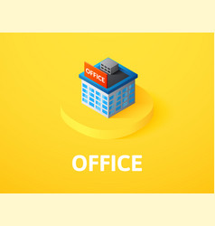 office isometric icon isolated on color vector image vector image