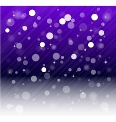 Whte snow bokeh blue background vector image