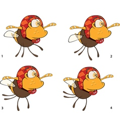 A set of bees toys cartoons for a game vector image