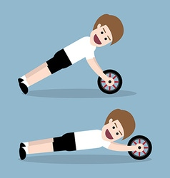 ab wheel training vector image