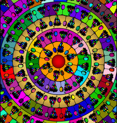 abstract image of mandala consisting of figures vector image