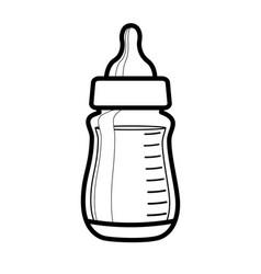 babies bottle smple line drawing vector image