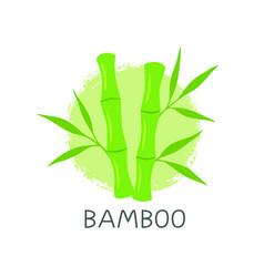 bamboo logo template design emblem vector image