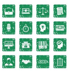 Banking icons set grunge vector