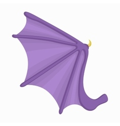 Bat wing icon cartoon style vector