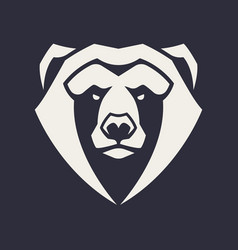 bear mascot icon vector image