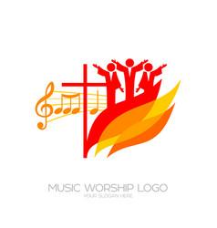 Believers worship jesus christ vector