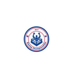 boxing-championship-logo vector image