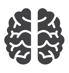 brain solid icon brainstorm and idea vector image