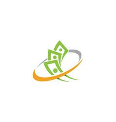 business finance logo template vector image