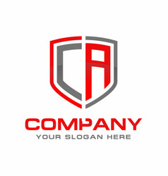 ca initial logo design vector image