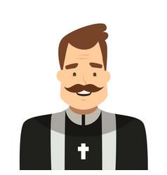 catholic priest cartoon style isolated vector image