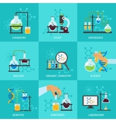 Chemical Experimental Icon Set vector image