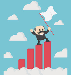 chief business man holds the flag vector image
