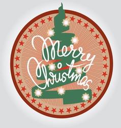 Christmas tree print vector image