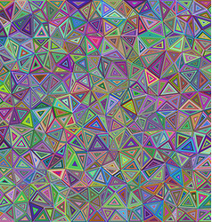 Colorful chaotic triangle mosaic background design vector