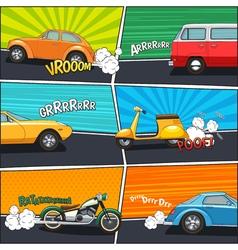 Comic Frames Transport vector