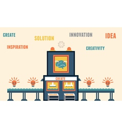 concept create ideas functions brain vector image