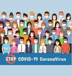 corona virus disease awareness vector image