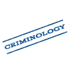 Criminology Watermark Stamp vector image