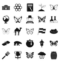 Crum icons set simple style vector