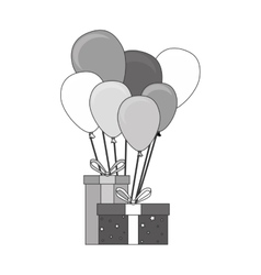 Cute balloons air party card vector