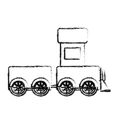 Cute train toy icon vector