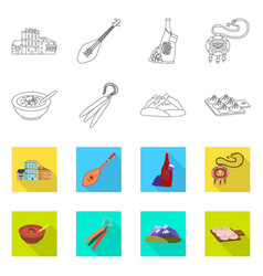 Design culture and sightseeing icon set vector