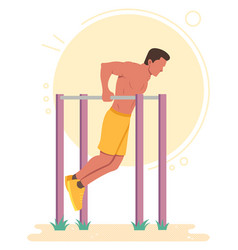 Dips calisthenics bodyweight exercise vector