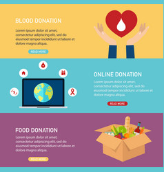 Donation concept blood online and vector