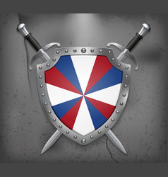 Dutch flag the prinsengeus the shield with vector